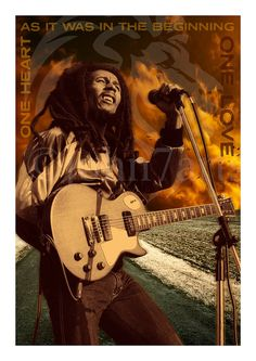 Bob Marley Poster Wall Art Print Gift On Archive Paper - A3 print size - 16.7 x 11.5