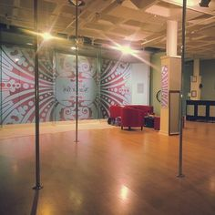 The Scar-Lit Box in Claremont, Cape Town. kitted out with Pole Dance Studio, Pole Dancing, Pole Fitness, Cape Town, South Africa, Studios, Box, Snare Drum, Pole Dance