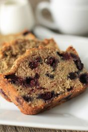blueberry zucchini bread - i used a cup of plain non-fat greek yogurt instead of oil