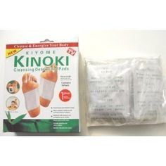 One Box of 10 Cleansing Detox Foot Pads Patches KINOKI *As Seen On TV by KINOKI. $4.99. Why use Kinoki Detox Foot Pads? Because it's the natural way to assist your body in the removal of heavy metals, metabolic wastes, toxins, and other chemicals. Kinoki Foot Pads provide the one-two punch of powerful detox ingredients in conjunction with tourmaline, a mineral that generates negative ions. This helps to capture toxins your body eliminates through the outer lay...