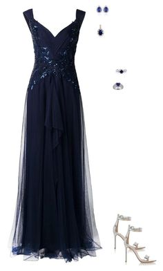 """prom idea # 301"" by animelovrr ❤ liked on Polyvore featuring Notte by Marchesa, Miadora, Belk & Co., Kevin Jewelers, BERRICLE, Gianvito Rossi, women's clothing, women, female and woman"