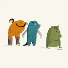 Monsters: Illustration by Kirstie Edmunds #illustration #monster #kirstie_edmunds