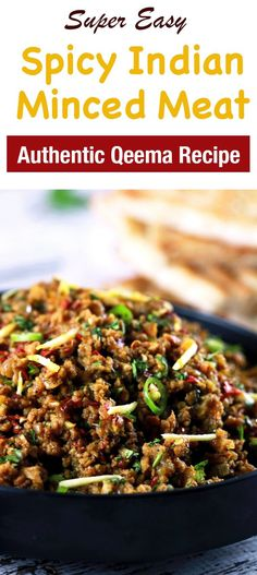 This CLASSIC authentic Indian minced meat Qeema recipe is so delicious, it'll become a regular at your house! This CLASSIC authentic Indian minced meat Qeema recipe is so delicious, it'll become a regular at your house! Keema Recipes, Curry Recipes, Meat Recipes, Indian Food Recipes, Asian Recipes, Whole Food Recipes, Cooking Recipes, Healthy Recipes, Authentic Indian Recipes