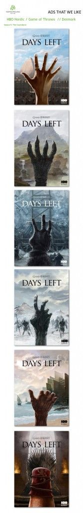 Game Of Thrones Hands High Season5 Countdown. HBO Nordic