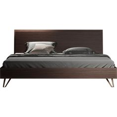 One of few beds truly worthy of the royal moniker, the Grand King is both expansive and regally restrained. This bed owns the space where it sits, yet the espresso oiled veneer proves that real power