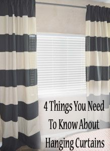 4 Things you need to know about hanging curtains.