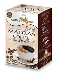 Instant Madras Coffee, Sweetened, 10 Count (Pack of 1)