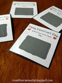 Scratch off Valentine cards...perfect for Sunday school...guess how much Jesus loves you?