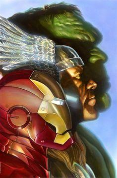 First Avengers//Marvel/Alex Ross/ Comic Art Community GALLERY OF COMIC ART
