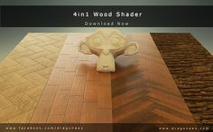 wood and metals shaders - download #blender