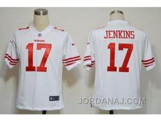http://www.jordanaj.com/nike-nfl-san-francisco-49ers-17-jenkins-white-game-jerseys.html NIKE NFL SAN FRANCISCO 49ERS #17 JENKINS WHITE GAME JERSEYS Only $23.00 , Free Shipping!