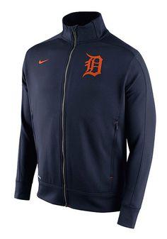 Detroit Tigers Nike Track Jacket - Mens Navy Blue Track Long Sleeve Athletic Jacket http://www.rallyhouse.com/shop/detroit-tigers-nike-detroit-tigers-nike-track-jacket-mens-navy-blue-track-long-sleeve-athletic-jacket-12512382?utm_source=pinterest&utm_medium=social&utm_campaign=Pinterest-DetroitTigers $70.00