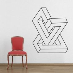 Geometric infinite form  Decal for housewares by decalSticker, $53.75