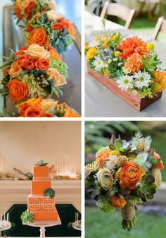 Laranja e verde Orange Rosen, Wedding Stuff, Wedding Flowers, Orange Party, Flower Planters, Flower Ideas, Orange Flowers, Burnt Orange, Fall Wedding