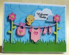Cricut baby shower card
