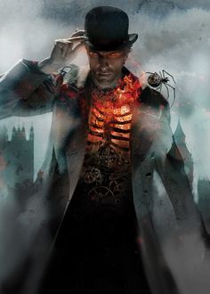 """Cover art for Whitechapel Gods by S. Cover art by Cliff Nielsen. I'm not usually into """"dark"""" art, but this is just too cool. Dark Fantasy, Fantasy Art, Character Inspiration, Character Art, Art Steampunk, Steampunk Heart, Arte Obscura, World Of Darkness, Horror Art"""
