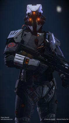 Killzone Shadow Fall Spec-op by bischoff - Efgeni Bischoff - CGHUB Robot Concept Art, Armor Concept, Environment Concept Art, Killzone Shadow Fall, Character Art, Character Design, Sci Fi Armor, Future Soldier, Arte Cyberpunk