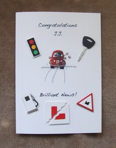 Handmade Driving Test Pass card by mandishella Men's Cards, Kids Cards, Passed Driving Test, Test Card, Birthday Quotes, Handmade Cards, Congratulations, Card Ideas, Scrap