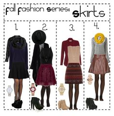 """""""Fall Fashion Series: Skirts"""" by happyrandomness ❤ liked on Polyvore featuring Proenza Schouler, Fogal, Michael Kors, Coach, Breckelle's, Miss Selfridge, Monsoon, Armani Collezioni, River Island and Jennifer Zeuner"""