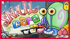 Spongebob Squarepants (Gary) Snail Care Game - FULL HD English Game for ...