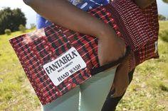 Red and black cotton clutch by Fantabela  https://www.etsy.com/shop/FANTABELA