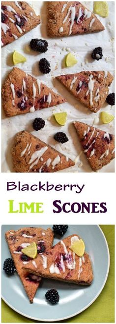 Healthy Blackberry lime scones made with whole wheat flour, lime and ...