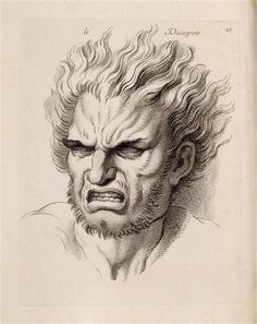 Jean Audran d'après Charles Le Brun, Le Desespoir, burin et eau-forte, 43.4 x 27.8 cm, Paris, Louvre