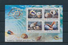 LE96040 Singapore  seashells sealife good sheet MNH