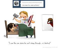 {Find out how Fury wakes up Bucky in the newest Ask The Derpvengers: this one goes out to all the heavy sleepers in the world… and all the nick furies that try to prank help them.}