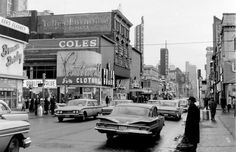 Old Toronto .. notice the Coles sign.