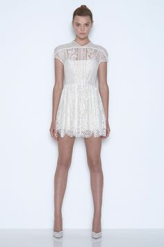 Lover the Label. White Magic collection. Short white lace dress