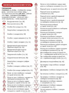 Условные обозначения петель (1) Crochet Symbols, Crochet Motif, Crochet Stitches, Free Crochet, Knit Crochet, Knitting Patterns Free, Crochet Patterns, Knitting Abbreviations, Foundation Single Crochet