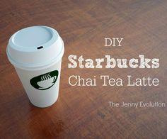 DIY Starbucks Chai Tea Latte Recipe - Copycat Recipe | The Jenny Evolution