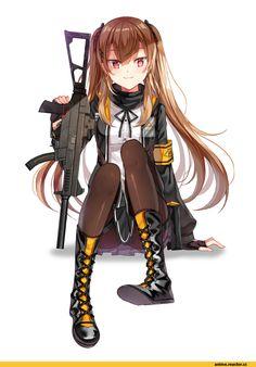 Anime,Аниме,Girls Frontline,ShaoNu QianXian, 少女前线,ump9 (girls frontline),diten,suomi kp31 (girls frontline)