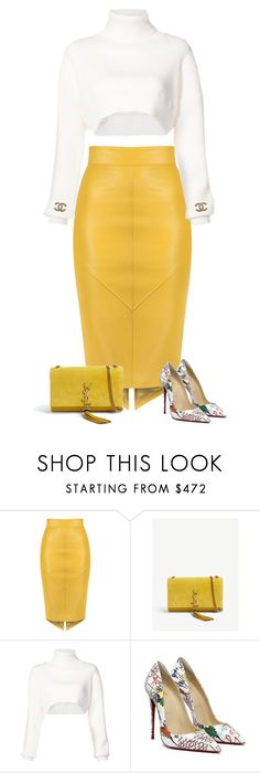 """""""Untitled #2290"""" by iammelissa ❤ liked on Polyvore featuring Yves Saint Laurent, Alexandre Vauthier and Chanel"""