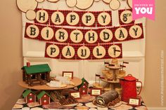 Lumberjack Birthday Collection Print at Home by PiggyBankParties