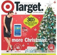 Target: More Christmas Catalogue - Discounts on Holiday Items, Starting 07 Nov 2013