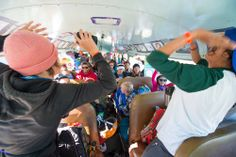 Not your average bus ride at High Cascade Snowboard Camp.