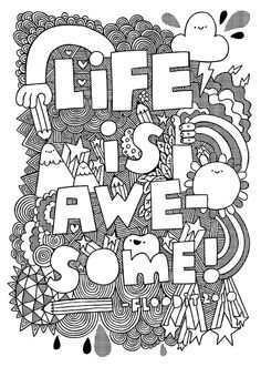 I'd never think to make this illustration black and white, but it works! Colouring Pages, Coloring Books, Funny Commercials, Funny Ads, Doodles Zentangles, Doodle Art, Love Art, Just In Case, Artsy