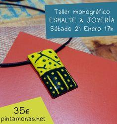 """Taller monográfico ESMALTE & JOYERÍA. """"PINTAMONAS. Talleres creativos"""". Entra en nuestra página web o en nuestra página de Facebook y mira todos los talleres que te podemos ofrecer! #Manualidades, #DIY, #arte, #pintura, #escultura, #joyas, #esmaltes, #cumpleaños, #monográficos y mucho más! https://www.pintamonas.net/"""
