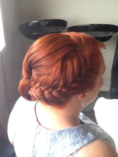 Bridesmaids hair up with braid