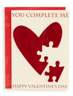 Valentine Card, Jigsaw Heart