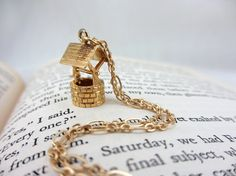 """""""The Wishing Well""""; Vintage charm necklace"""