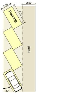 I am planning to buy a specific appartment and I am wondering whether the parking space has the available size for easy entry and exit of my car. So, what is the minimum size of a car-parking space? Parking Plan, Parking Space, Car Parking, Car Park Design, Parking Design, Rest House, D House, Above Ground Storm Shelters, Garage Door Sizes