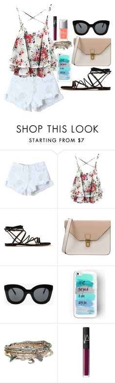 """""""Untitled #8"""" by irisaparecida on Polyvore featuring beauty, Gianvito Rossi, 8, CÉLINE, Aéropostale, NARS Cosmetics and Christian Dior"""