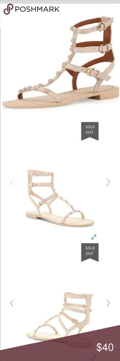 Rebecca Minkoff Gladiator Sandals Sold out in this color on almost every website!!! These shoes have only been worn twice. Despite how dirty the soles look, they aren't worn down at all and are in good condition! Rebecca Minkoff Shoes Sandals