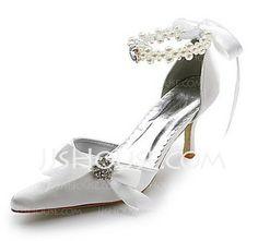 Sapatos de casamento - $39.99 - Mulher Cetim Salto carretel Fechados Plataforma com Pérolas Imitação Imitação de Diamantes Laço de fita (047004903) http://jjshouse.com/pt/Mulher-Cetim-Salto-Carretel-Fechados-Plataforma-Com-Perolas-Imitacao-Imitacao-De-Diamantes-Laco-De-Fita-047004903-g4903