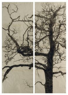 """Burnt Offering"" by Christine Willcocks;  drypoint etching"