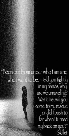 """""""Salvation"""" -- Skillet -- One of my favorite worship songs by them! XD"""
