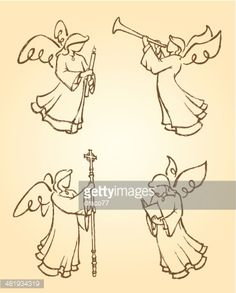 Variation of angel poses derived from my artwork. More Christmas. Angel Sketch, Angel Drawing, Advent, Angel Illustration, Angel Vector, Art Prompts, Christmas Angels, Xmas, Free Illustrations